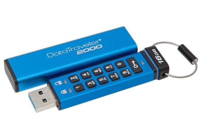 Kingston Data Traveler DT2000 16GB Kingston Secure Pendrive Kingston DT2000 16GB Encypted Flash Drive
