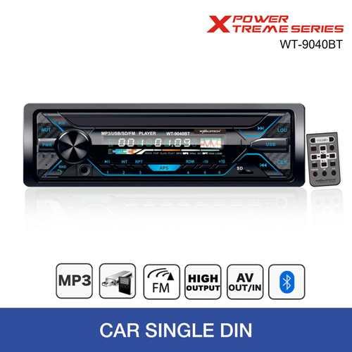 Worldtech Car Stereo WT-9040BT Single Din Bluetooth Car Stereo Bluetooth Car Audio