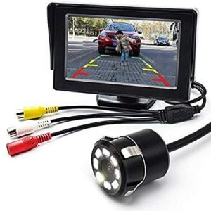 car rear view camera kit 4.3 inch monitor with camera reverse view car kit rear view monitor with camera