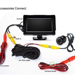 car rear view camera kit 4.3 inch display with camera reverse view car kit rear view monitor with camera