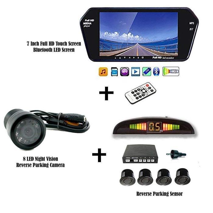Car Parking Kit Reverse car parking Kit Rear view Mirror with Parking sensor car parking sensor with display rear view parking kit