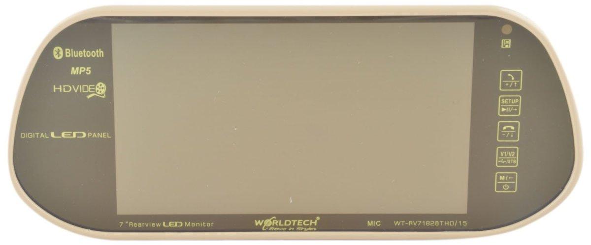 Worldtech Car Rear View Mirror Worldtech WT-RV7182BTHD