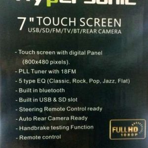 "Hypersonic 7"" Touch Screen Stereo"